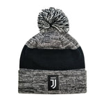 Juventus F.C. Cuff Pom Beanie - Heather Gray Cuff by Icon Sports