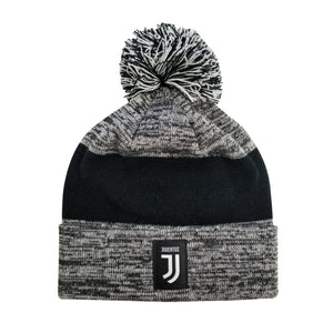 Juventus F.C. Cuff Pom Beanie - Heather Gray Cuff