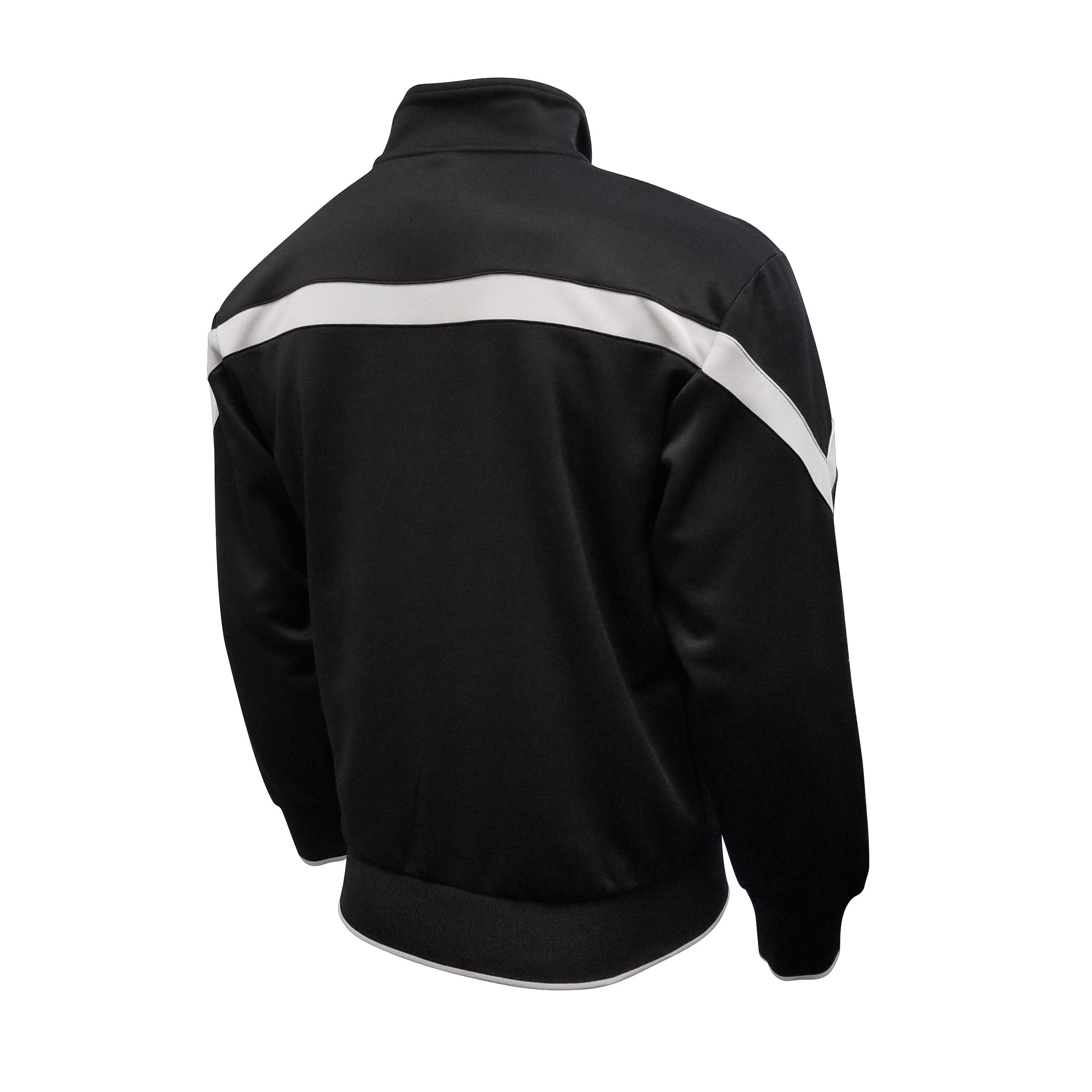 Juventus Adult Full Zip Track Jacket - Black & Gray by Icon Sports