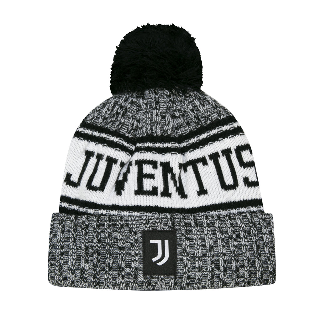 Juventus Youth Heathered Pom Beanie by Icon Sports