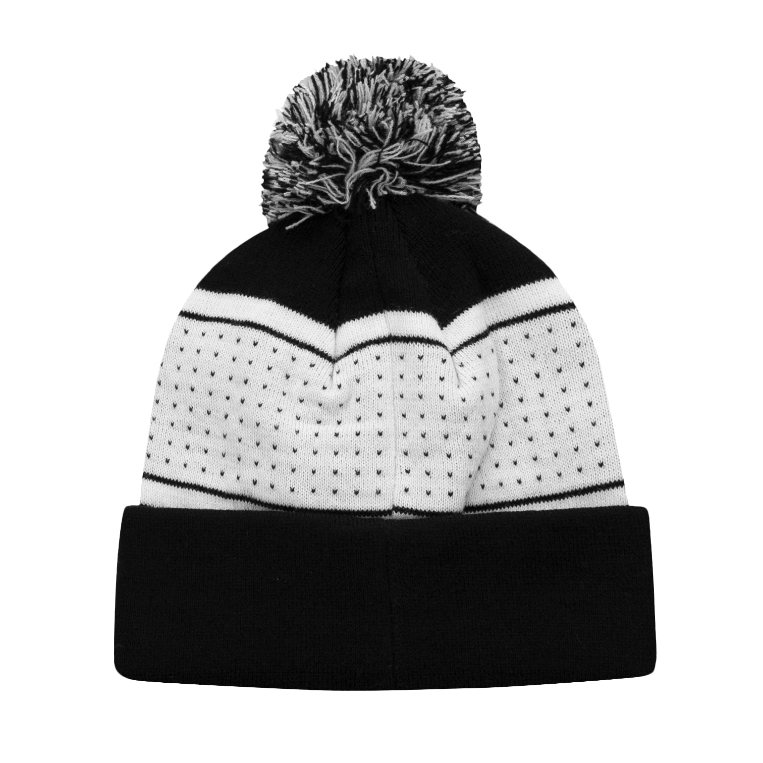 Juventus Pegged Adult Pom Beanie by Icon Sports
