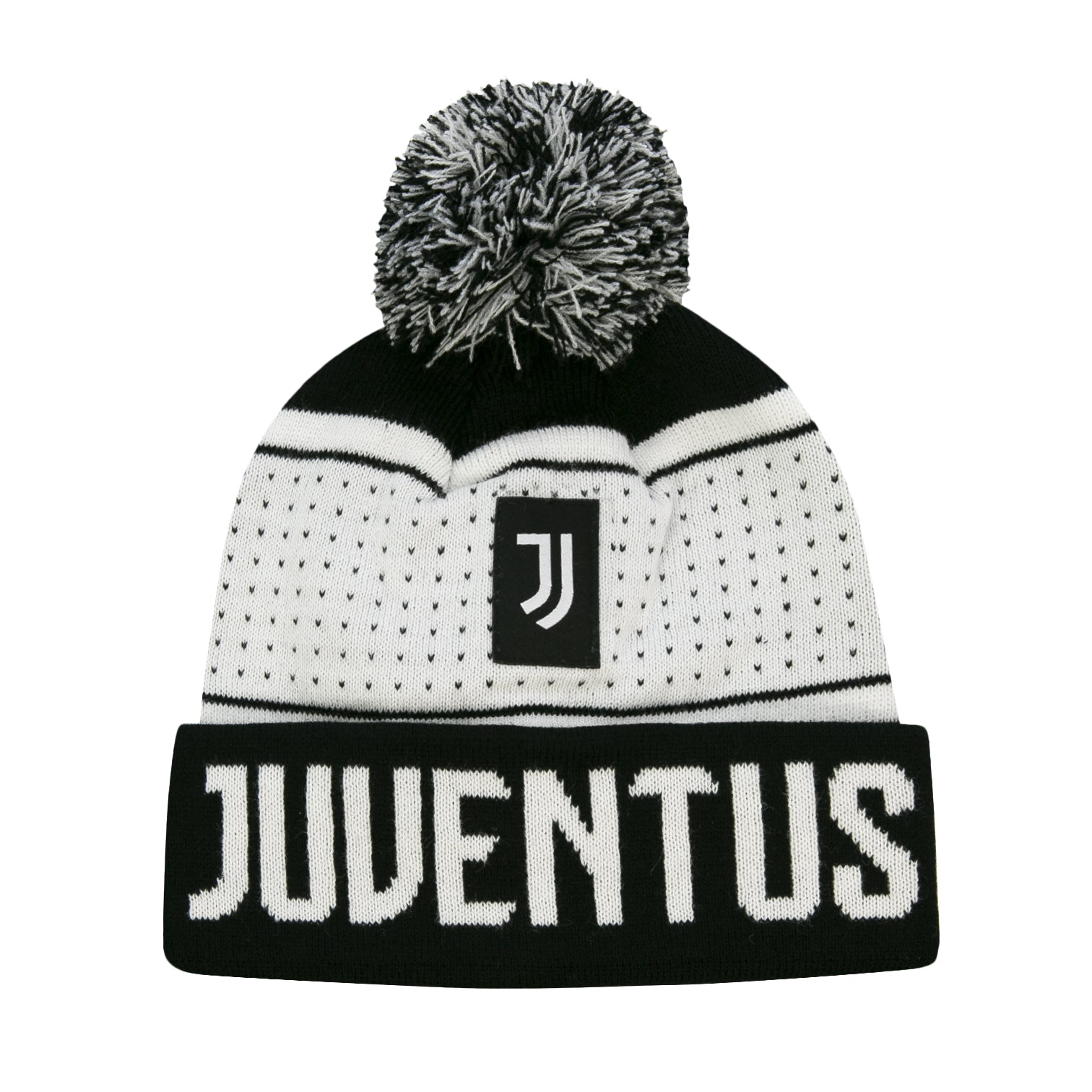 Juventus Youth Pegged Pom Beanie by Icon Sports