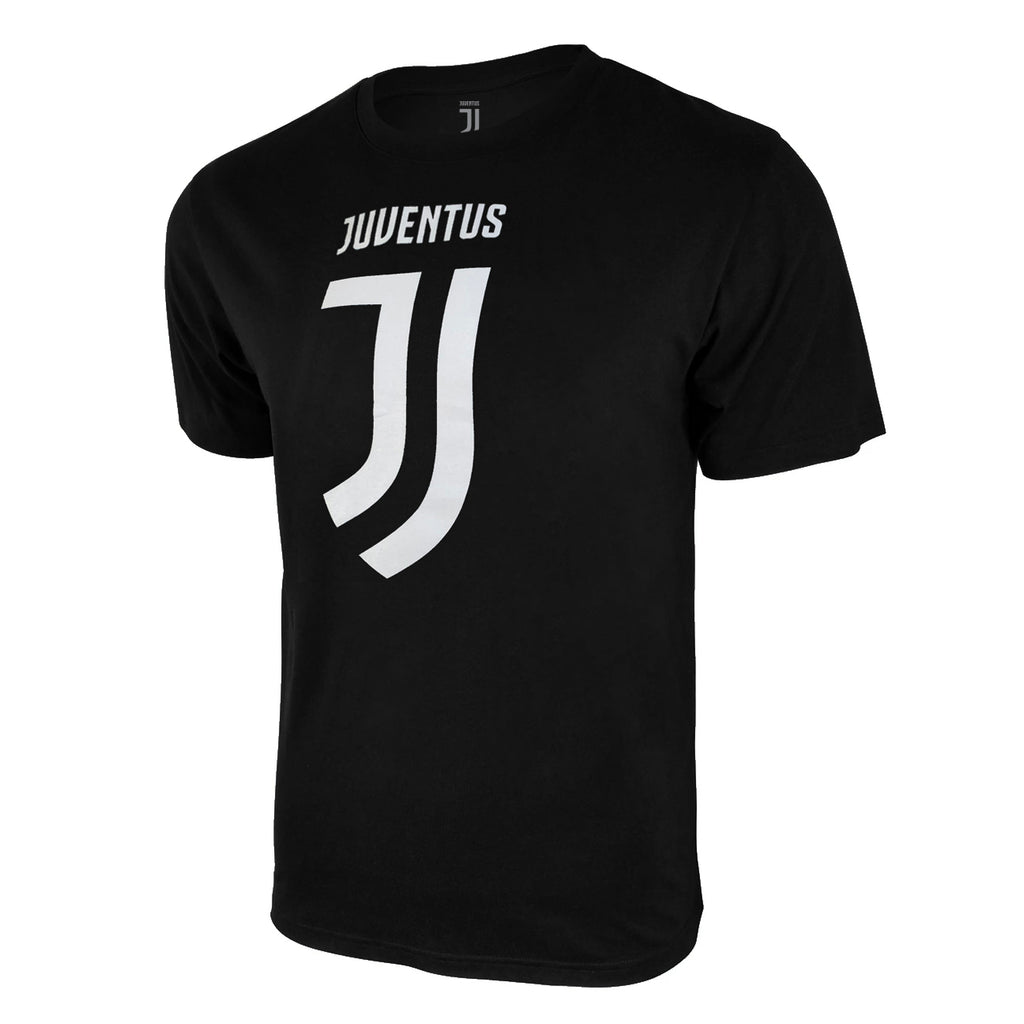 Juventus Logo T-Shirt - Black by Icon Sports