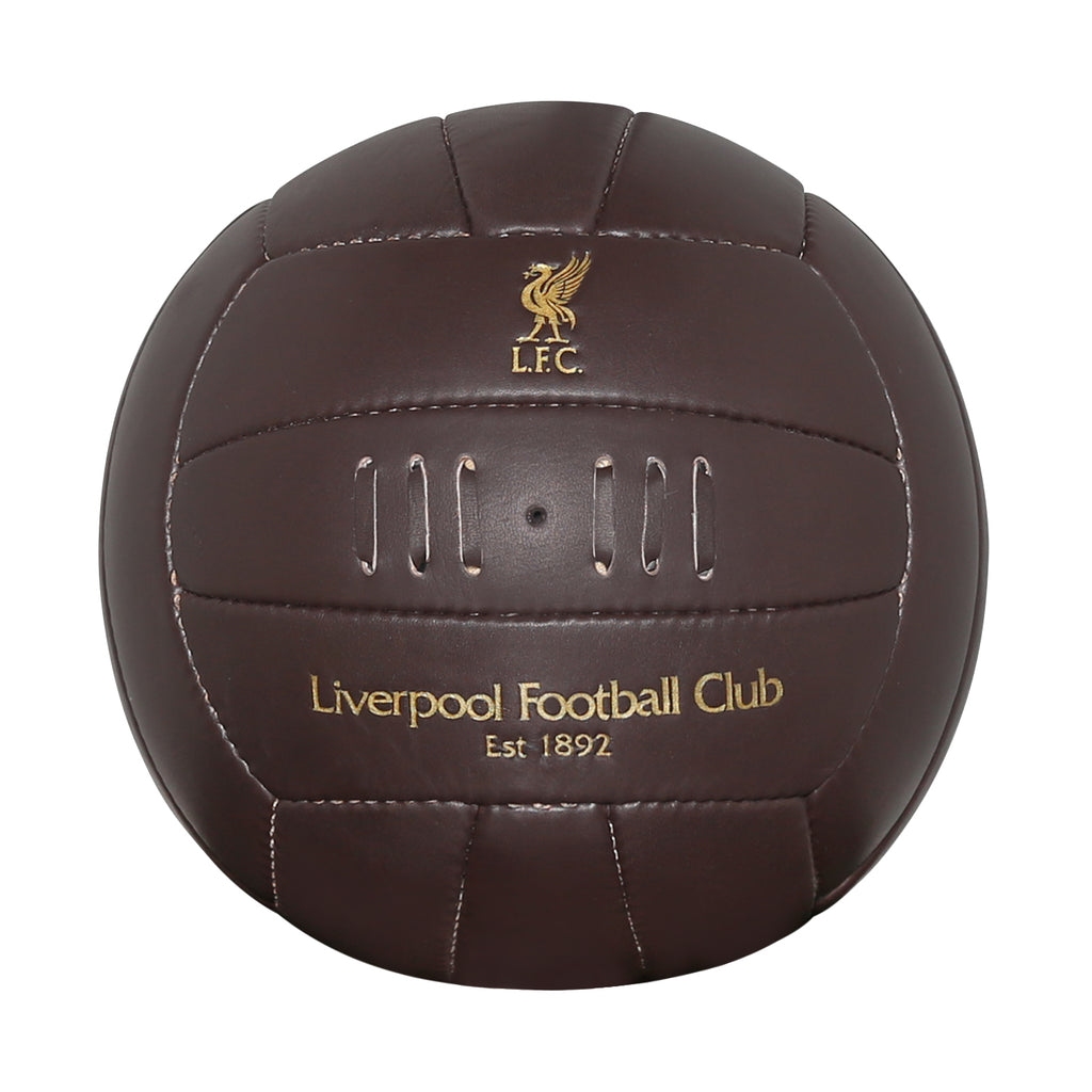 Vintage Liverpool FC Leather Soccer Ball by Icon Sports