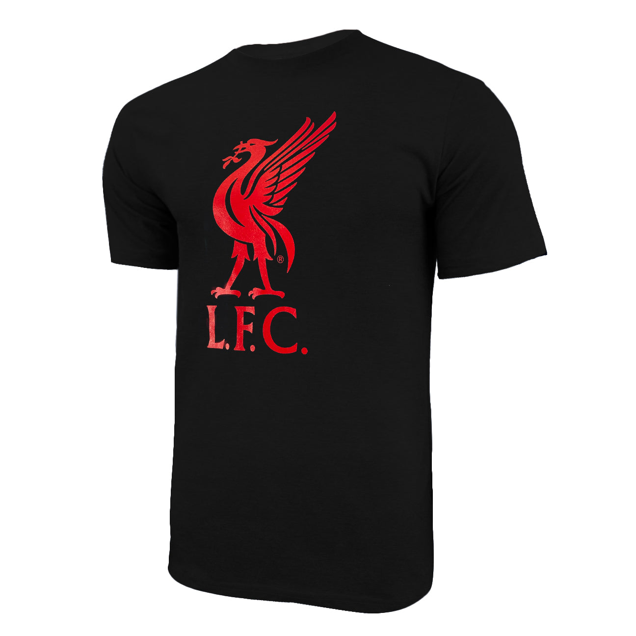 Liverpool FC Liverbird Logo T-Shirt - Deep Heather by Icon Sports
