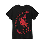 Liverpool FC Walk Alone Youth Graphic T-Shirt - Red by Icon Sports