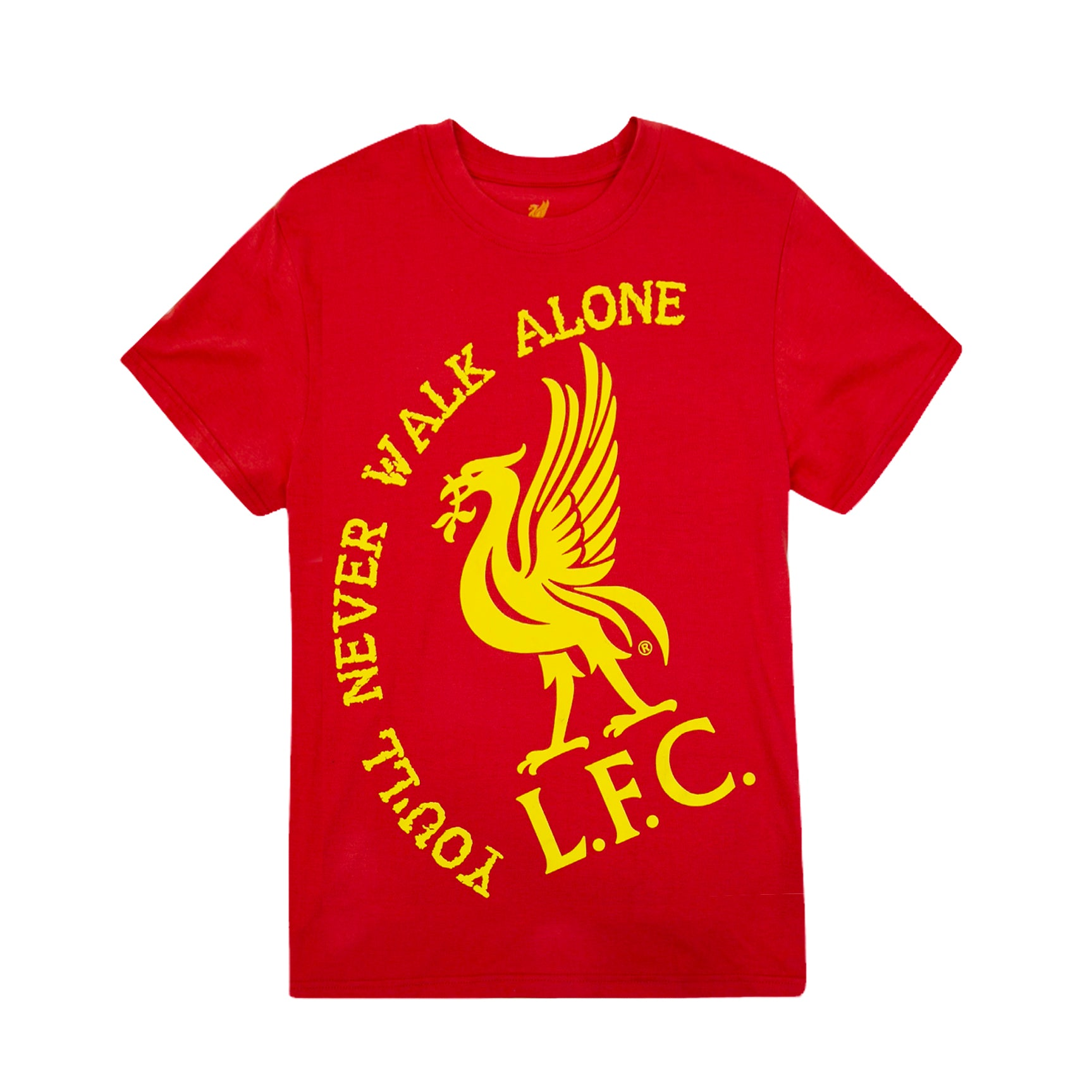 Liverpool FC Walk Alone Youth Graphic T-Shirt - Black by Icon Sports