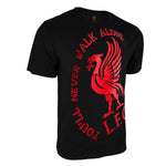 Liverpool FC Walk Alone Graphic T-Shirt - Black by Icon Sports