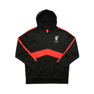 Liverpool FC Pullover Hoodie Youth- Black & Red by Icon Sports