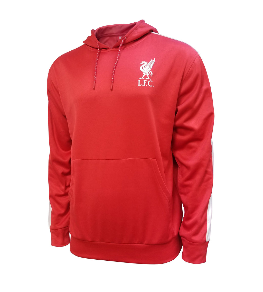 Liverpool FC Pullover Hoodie - Red w/stripe
