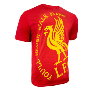 Liverpool FC Walk Alone Graphic T-Shirt - Red by Icon Sports
