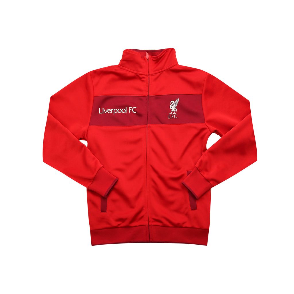 Liverpool FC Centered Full-Zip Youth Track Jacket by Icon Sports