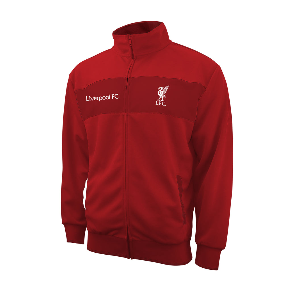 Liverpool FC Centered Adult Full-Zip Track Jacket by Icon Sports