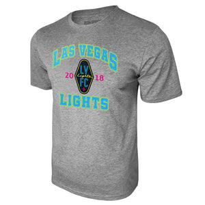 USL Las Vegas Lights Logo Cotton Tee - Heather Gray by Icon Sports
