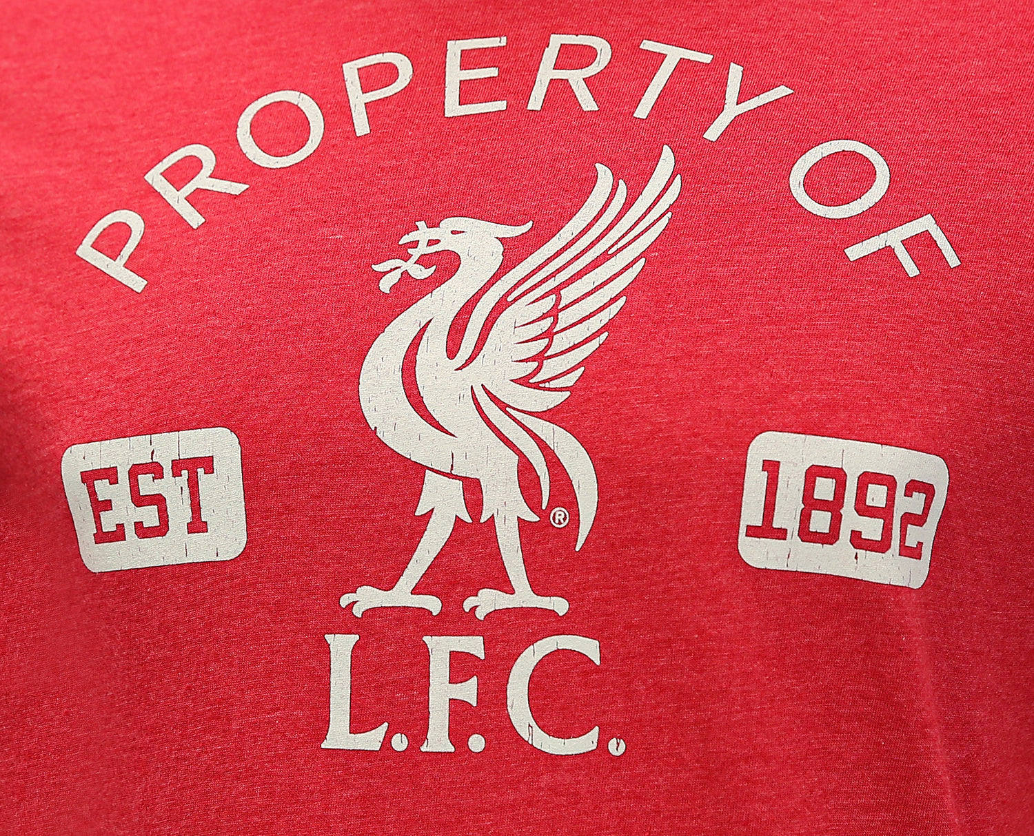 "Liverpool FC ""Property Of"" T-Shirt - Heather Red by Icon Sports"