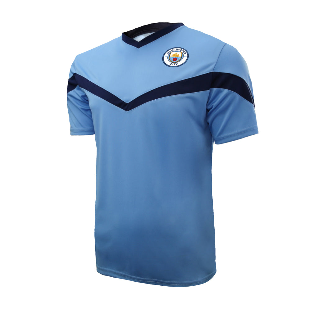 Man City Men's Stadium Class Shirt - Light Blue by Icon Sports