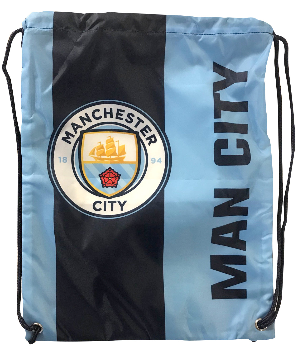 Manchester City FC Logo Drawstring Cinch Bag by Icon Sports