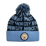 Manchester City F.C. Cuff Pom Beanie - Blue Cuff by Icon Sports