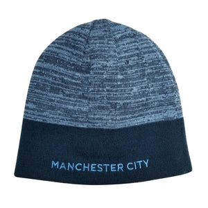Manchester City F.C. Reversible Beanie - Blue & Navy by Icon Sports