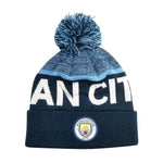 Manchester City F.C. Cuff Pom Beanie - Navy Cuff by Icon Sports
