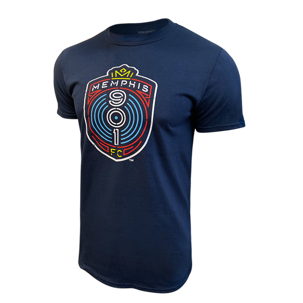 USL Memphis 901 FC Men's Logo Tee - Navy by Icon Sports