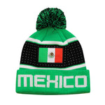 "Mexico ""Pegged"" Adult Unisex Pom Pom Beanie by Icon Sports"