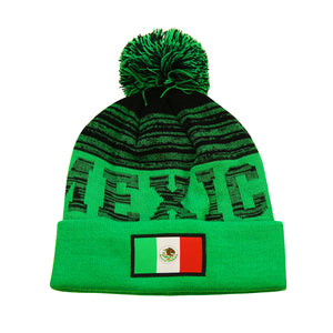 "Mexico ""Shade"" Adult Unisex Pom Pom Beanie by Icon Sports"