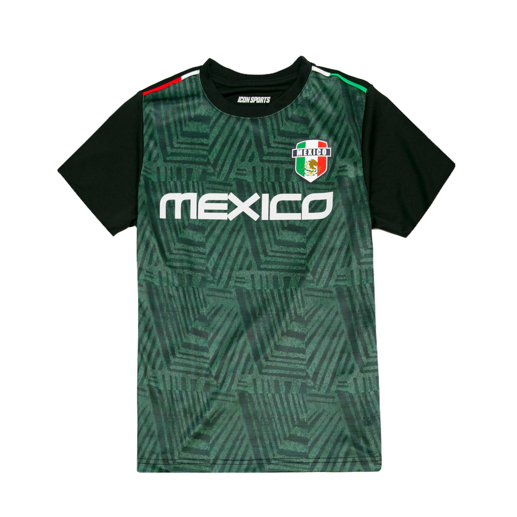 Mexico Soccer Azteca Youth Game Class Jersey by Icon Sports