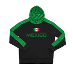 Mexico Youth Side Step Pullover Hooded Sweatshirt - Black by Icon Sports