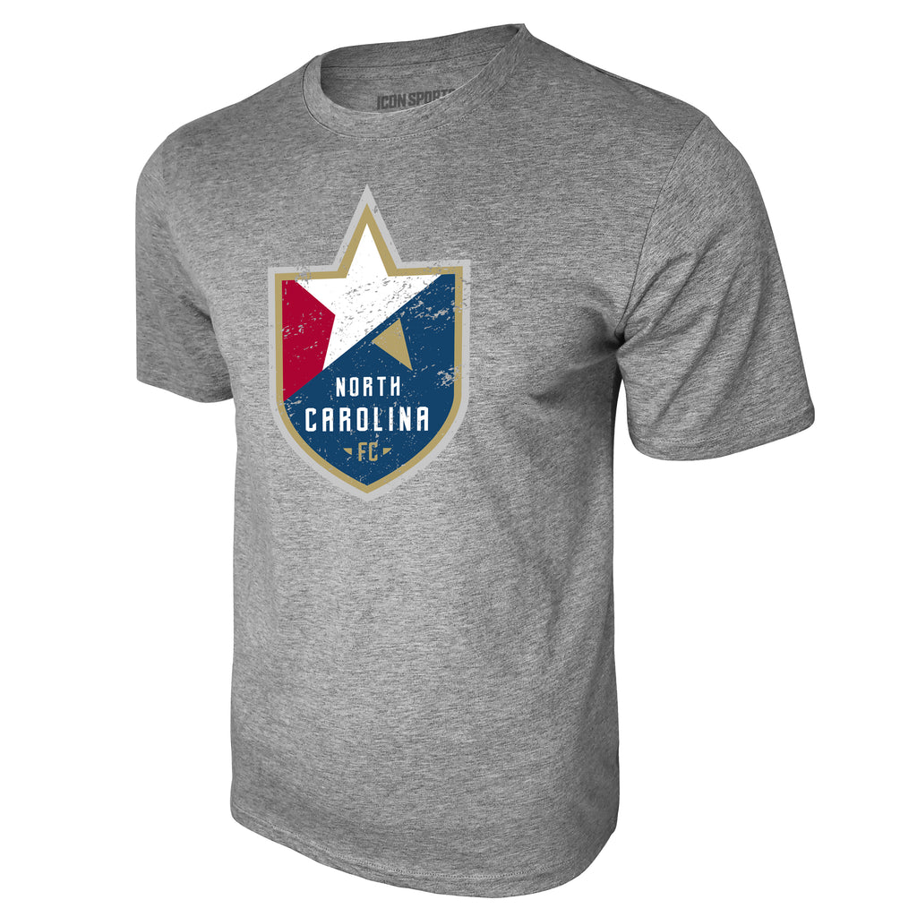 USL North Carolina FC Logo Tee - Heather Gray