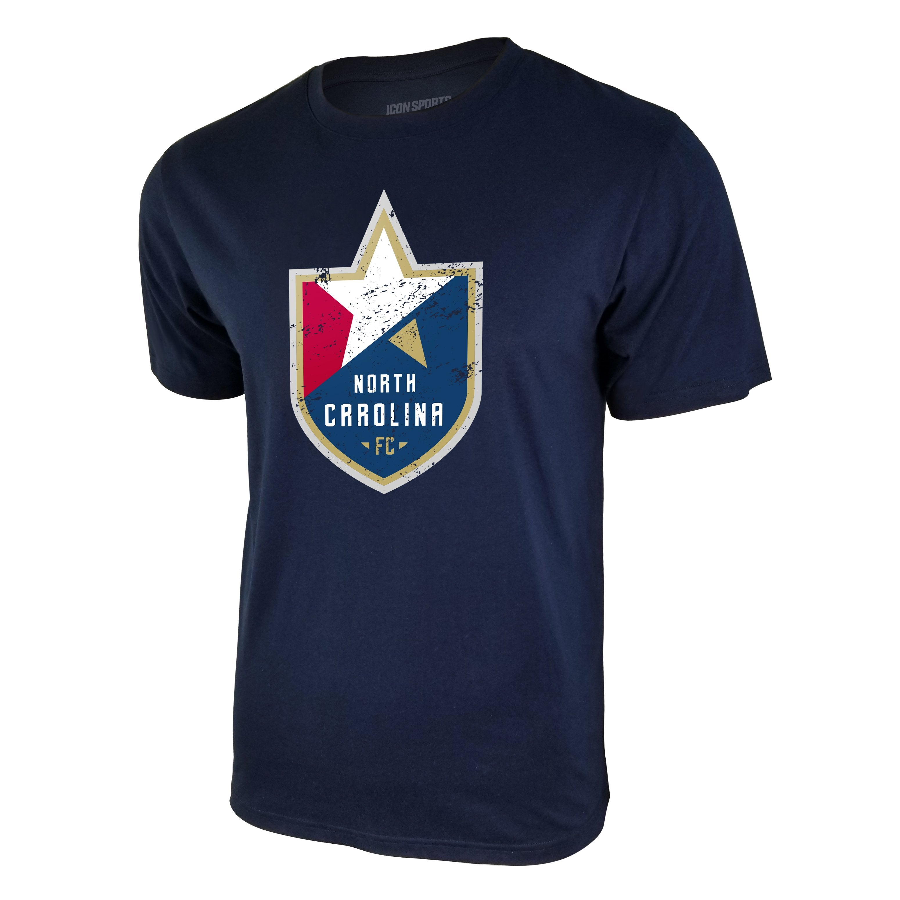USL North Carolina FC Logo Tee - Navy Blue by Icon Sports