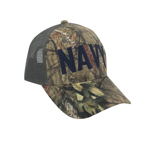 U.S. Navy x Mossy Oak Break-Up Country Trucker Cap by Icon Sports