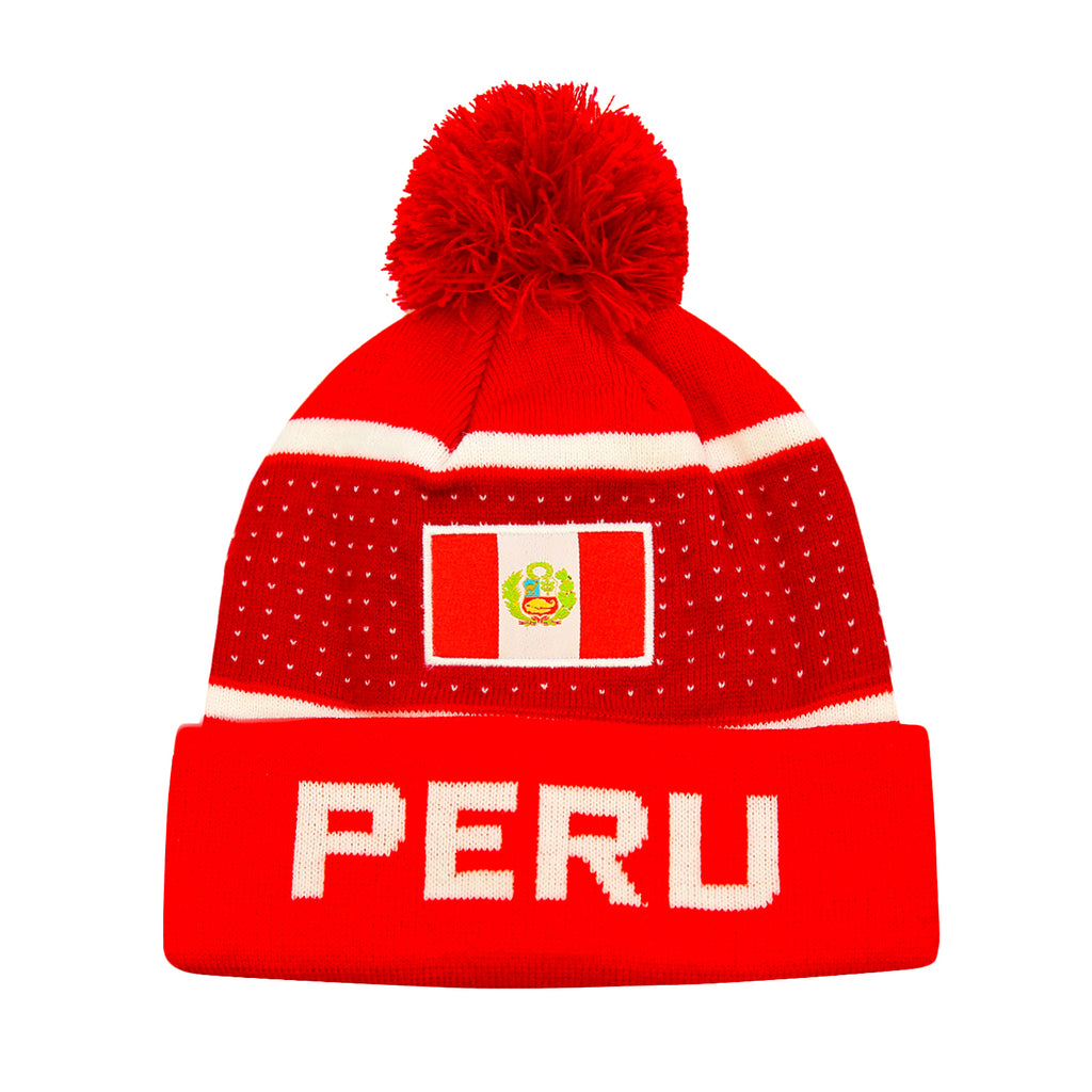 "Peru ""Pegged"" Adult Unisex Beanie by Icon Sports"