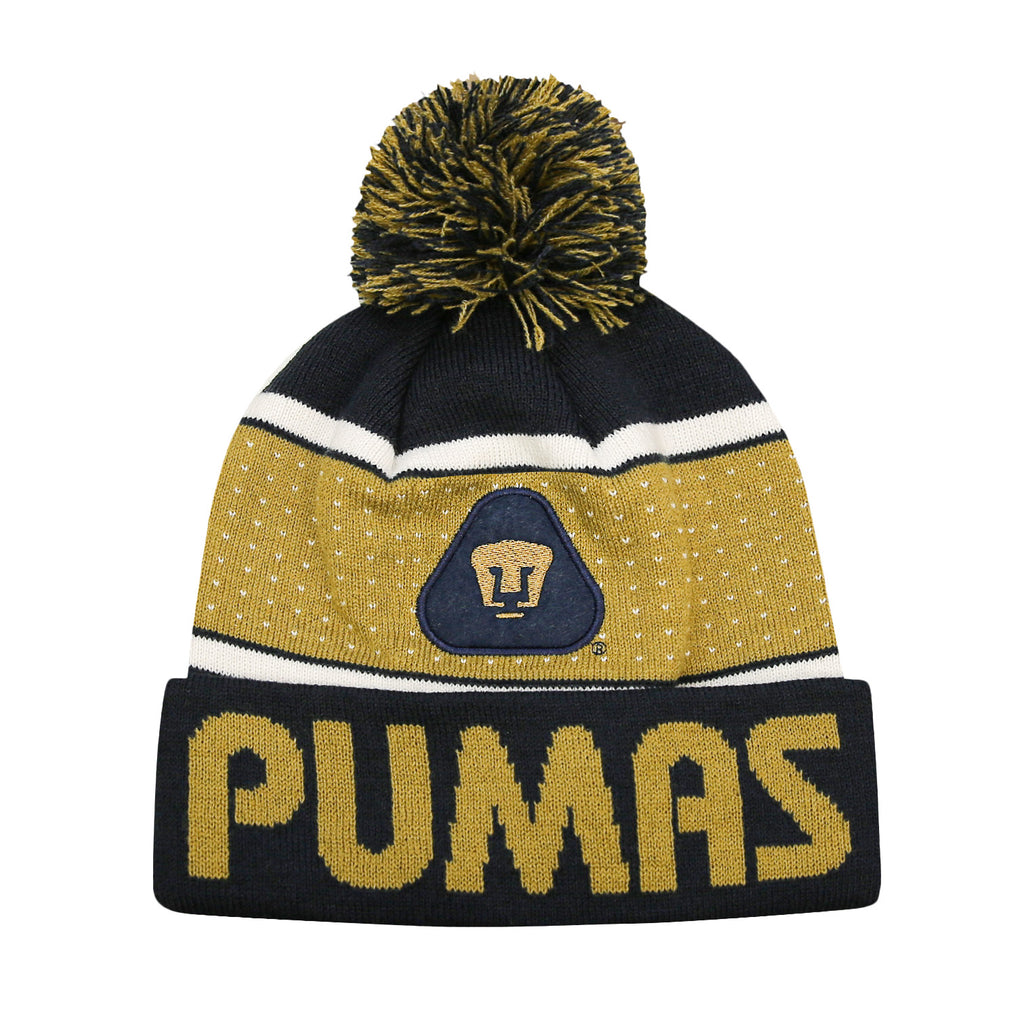 Pumas UNAM Youth Pegged Pom Pom Beanie by Icon Sports