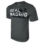 Real Madrid Shattered Graphic T-Shirt - Deep Heather by Icon Sports