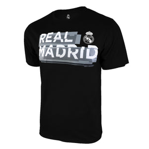 Real Madrid Shattered Graphic T-Shirt - Black by Icon Sports
