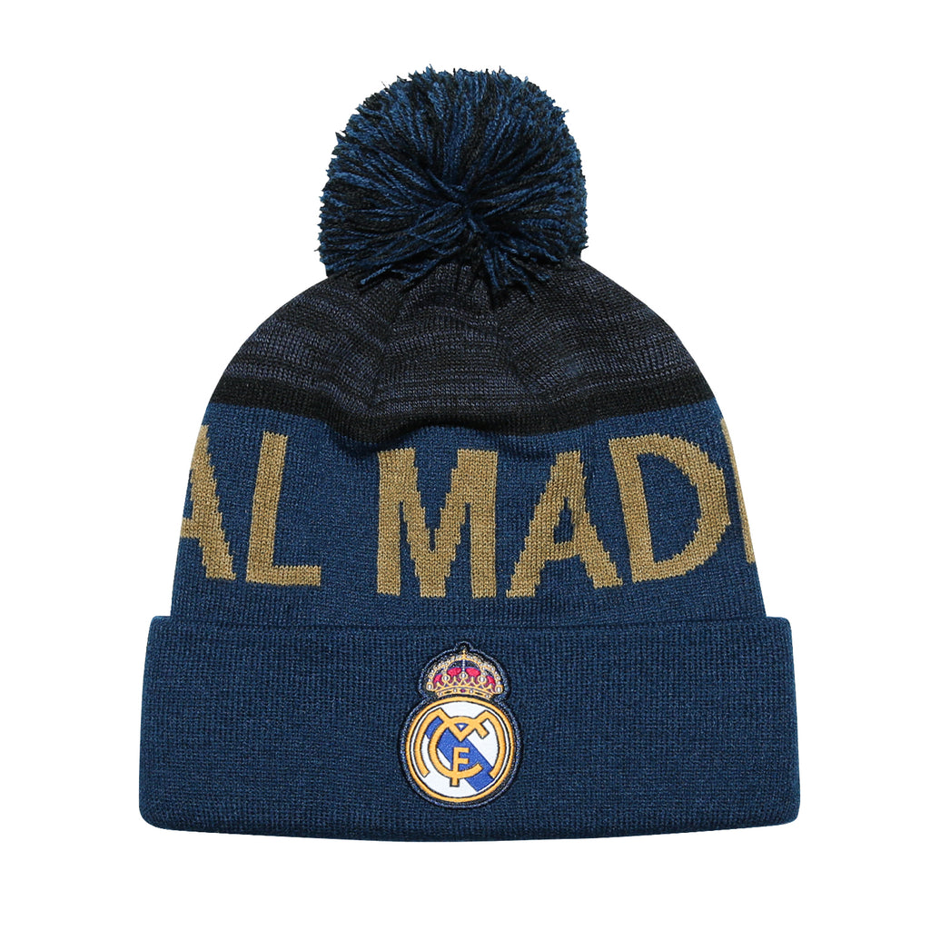 Real Madrid Cuff Pom Beanie - Navy Cuff
