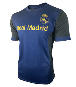 Real Madrid Game Class Striker Shirt - Navy by Icon Sports