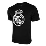 Real Madrid Distressed Logo T-Shirt - Black by Icon Sports