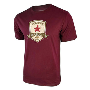 USL Sacramento Republic FC Tee - Burgundy by Icon Sports
