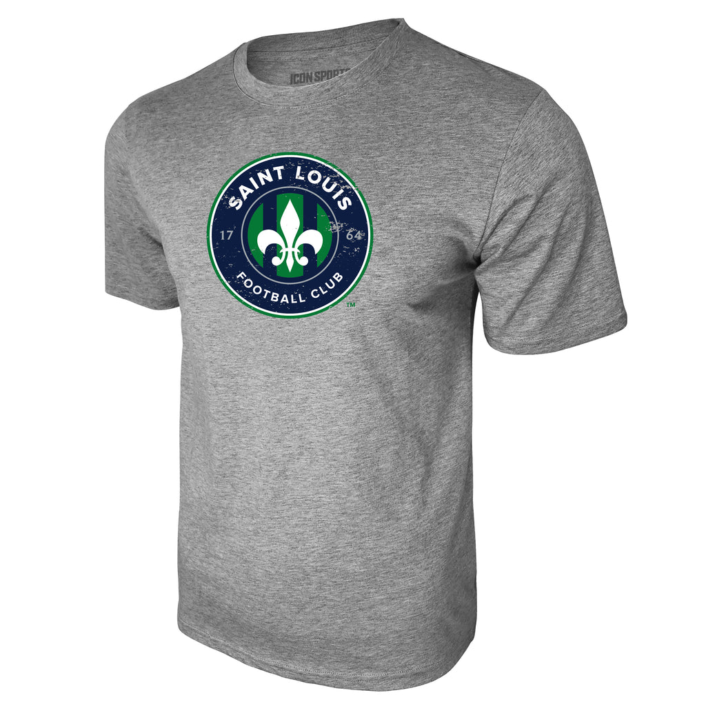 USL St Louis FC Logo Tee - Heather Gray by Icon Sports