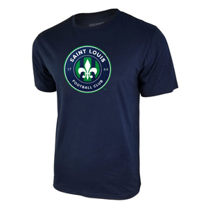 USL St Louis FC Logo Tee - Navy Blue by Icon Sports