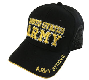 U.S. Army Acrylic Cap - Black by Icon Sports