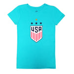 U.S. Soccer USWNT 4 Star Celebration Crest Girl's Princess Tee