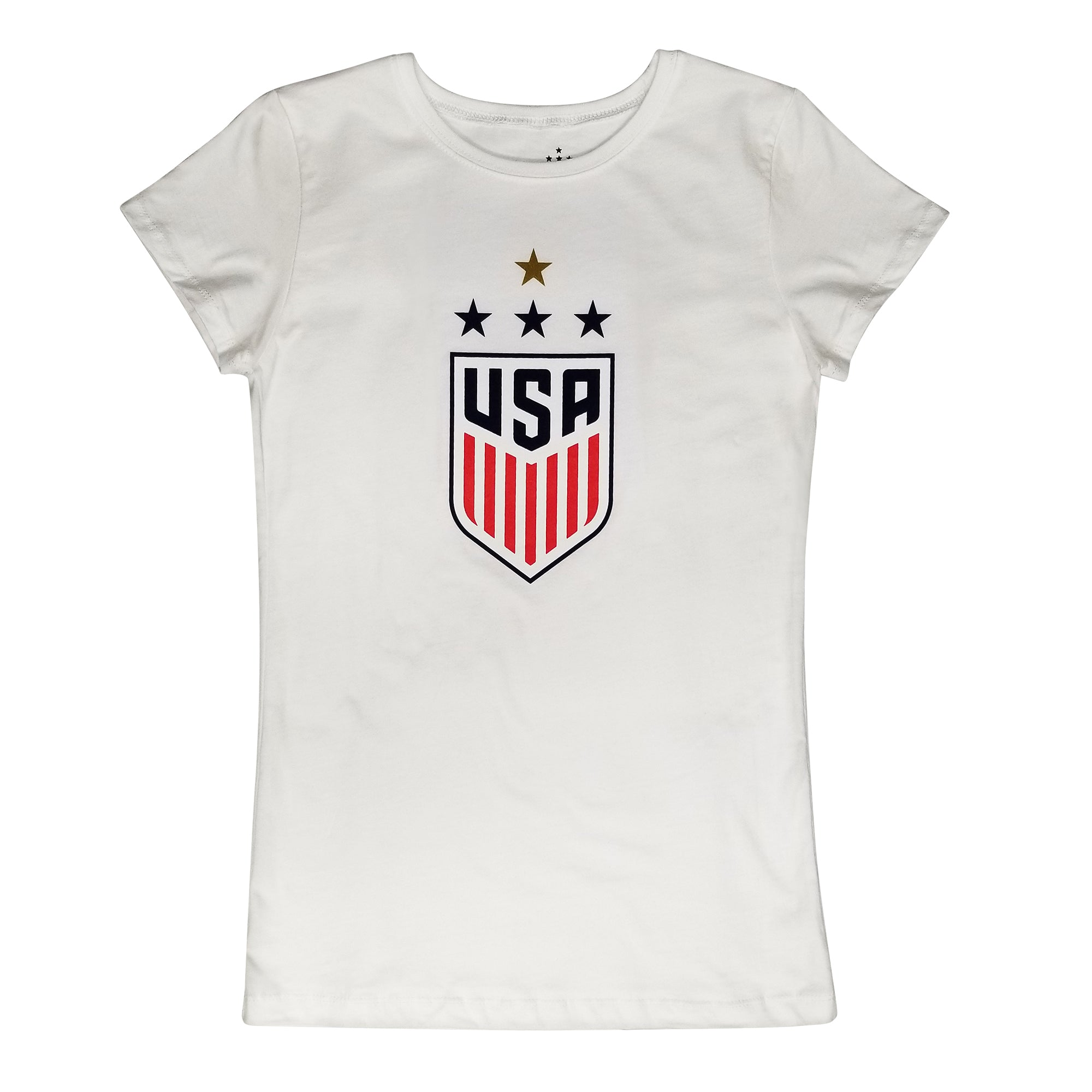 U.S. Soccer USWNT 4 Star Celebration Crest Girl's Princess Tee by Icon Sports