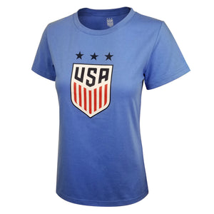 U.S. Soccer USWNT Ladies Bi-Blend Logo Tee by Icon Sports