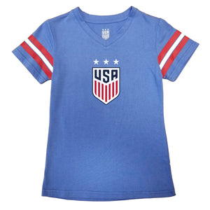 U.S. Soccer USWNT Girl's Football Tee