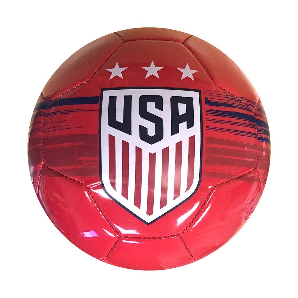 U.S. Soccer USWNT Brush Stroked Size 5 Soccer Ball - Red