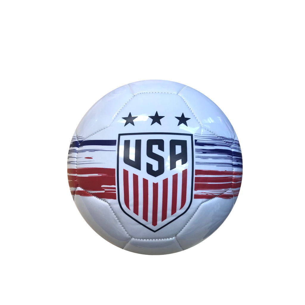 U.S. Soccer USWNT Brush Stroked Size 2 Mini Skill Ball - White
