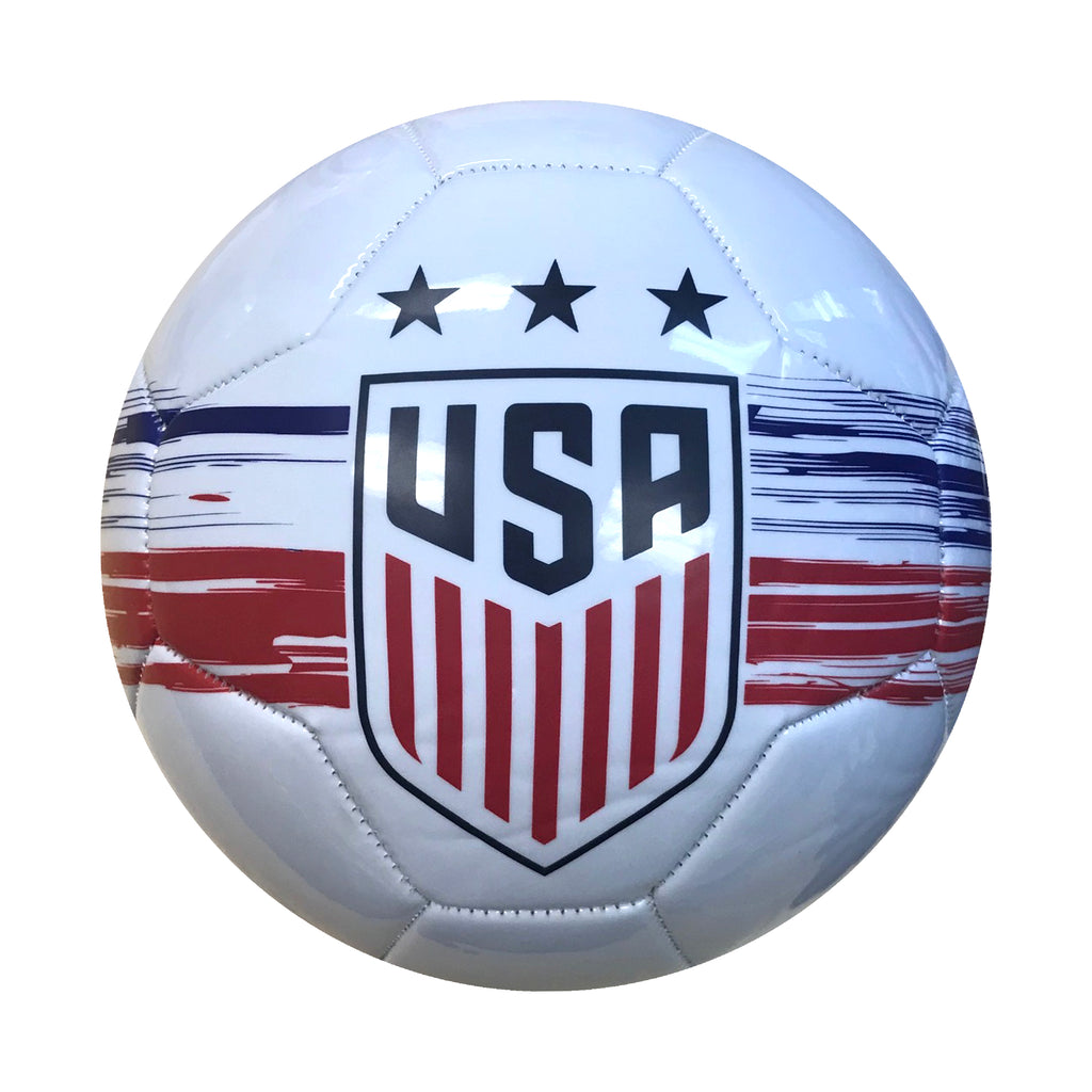 U.S. Soccer USWNT Brush Stroked Size 5 Soccer Ball - White by Icon Sports